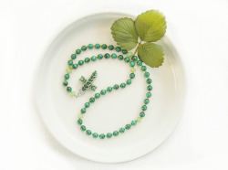 Rosary with Malachite beads